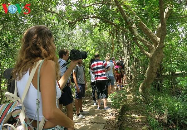 Warga tanah gosong Thoi Son menyelenggarakan ekowisata - ảnh 1