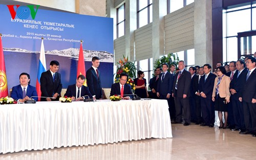 Jumpa pers ttg efektif-nya Perjanjian Perdagangan Bebas antara Uni Ekomomi Asia-Eropa dan Vietnam - ảnh 1