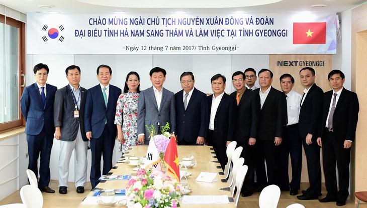 Propinsi Ha Nam memperkuat kerjasama dengan Propinsi Gyeonggi,  Republik Korea - ảnh 1