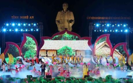 Празднование 60-летия со дня возвращения президента Хо Ши Мина в родную провинцию Нгеан - ảnh 1