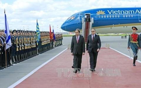 В РФ состоялась официальная церемония встречи президента СРВ Чан Дай Куанга  - ảnh 1