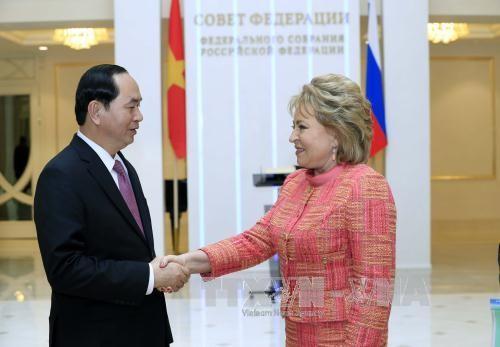 Президент Вьетнама встретился с председателем Совета Федерации РФ - ảnh 1