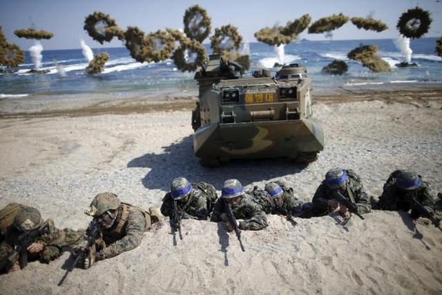 Republik Korea melakukan latihan perang di laut - ảnh 1
