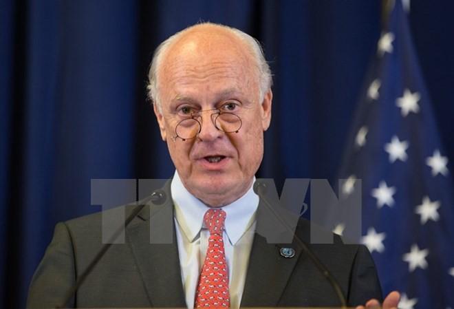 Utusan Khusus PBB berseru untuk melakukan perundingan dan solusi janga panjang untuk masalah Suriah - ảnh 1