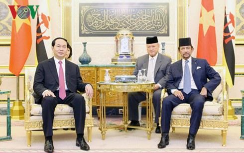 越南国家主席陈大光的文莱和新加坡之行取得多项重要成果 - ảnh 1