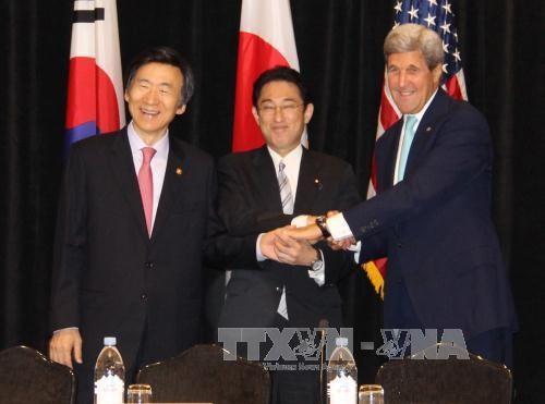 美日韩讨论加大对朝鲜的制裁 - ảnh 1