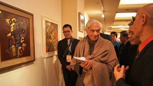 越南当代绘画和摄影展在印度开幕 - ảnh 1