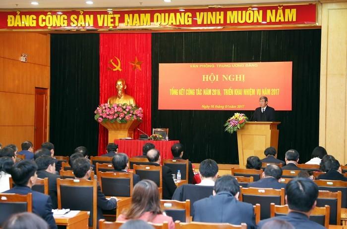 越共中央办公厅部署2017年任务 - ảnh 1