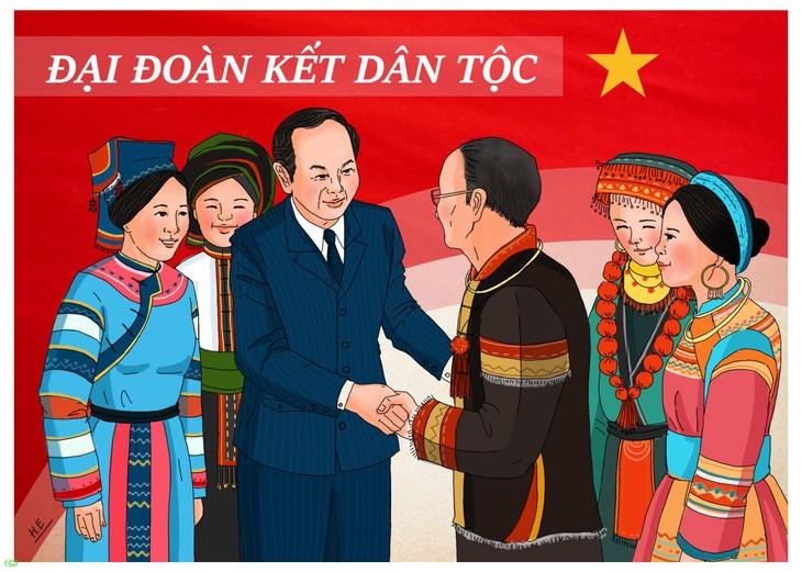 越南祖阵与民族发展中的团结人民使命 - ảnh 1