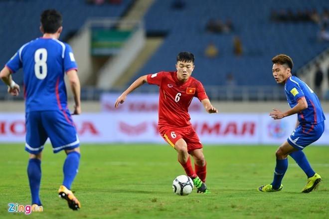 越南国家足球队与中国台湾队进行友谊赛 - ảnh 1
