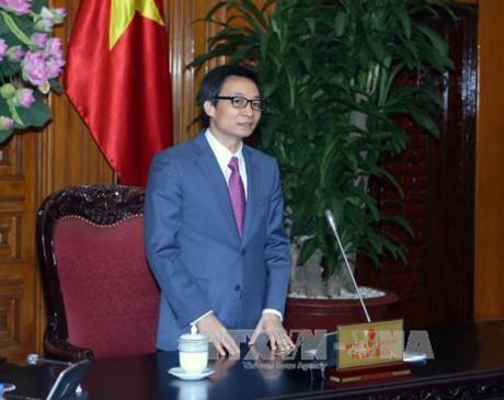 越南政府副总理武德担出席CMC技术集团革新创新中心揭牌剪彩仪式 - ảnh 1