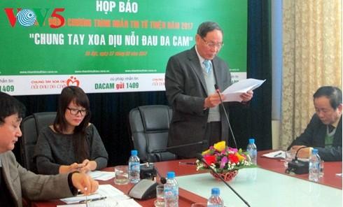 发短信捐款携手抚慰越南橙剂受害者痛苦 - ảnh 1