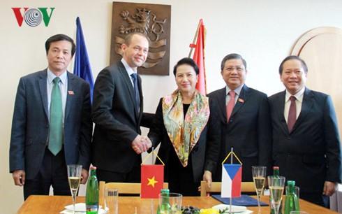 越南国会主席阮氏金银访问捷克卡罗维发利市 - ảnh 1