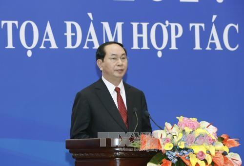 越南国家主席陈大光出席越中经贸合作论坛 - ảnh 1