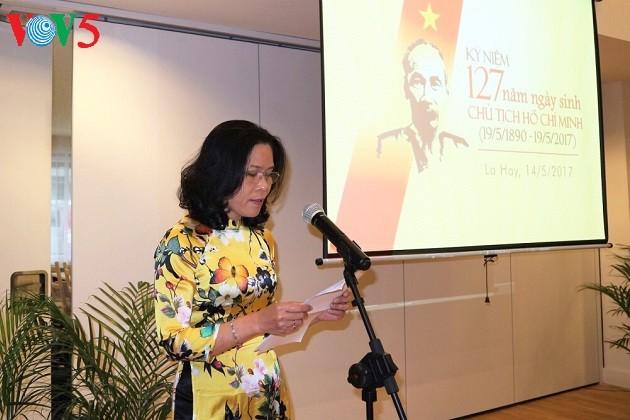 胡志明主席诞辰127周年纪念仪式在荷兰举行 - ảnh 1