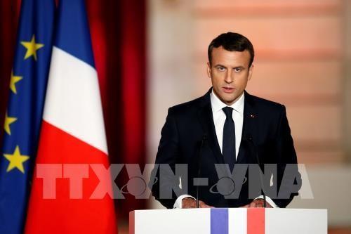 法国新任总统马克龙承诺建设强大的法国和让法国人重拾自信 - ảnh 1