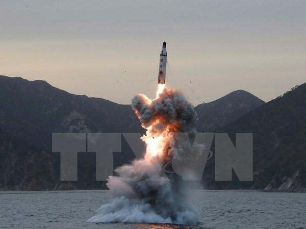 朝鲜宣布成功试射新型地对地中远程弹道导弹 - ảnh 1