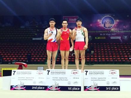 越南体操队夺得亚洲体操锦标赛金牌 - ảnh 1