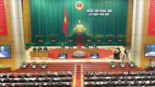 The National Assembly discusses the revised Law on Interior Waterway Traffic  - ảnh 1