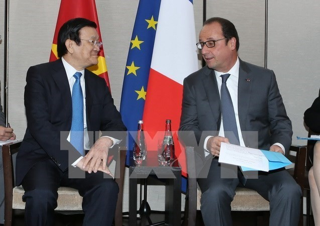 President stresses importance of ties with France - ảnh 1