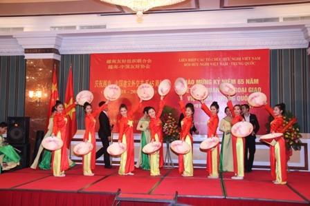 Mít tinh kỷ niệm 65 năm Ngày thiết lập quan hệ ngoại giao Việt Nam-Trung Quốc - ảnh 3
