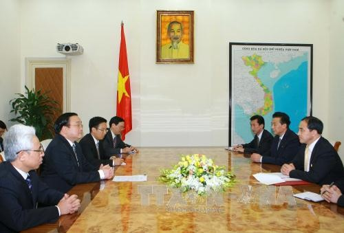Phó Thủ tướng Hoàng Trung Hải tiếp Thứ trưởng Ngoại giao CHDCND Triều Tiên  - ảnh 1