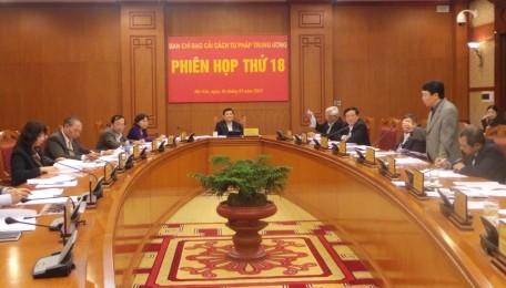 Chủ tịch nước Trương Tấn Sang chủ trì phiên họp Ban chỉ đạo cải cách tư pháp Trung ương lần thứ 18 - ảnh 1