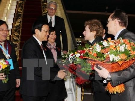 Chủ tịch nước Trương Tấn Sang tiếp Chủ tịch Đảng Cộng sản và lãnh đạo các tập đoàn Nga - ảnh 1
