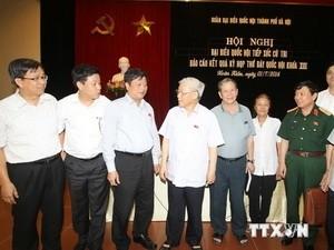 Tổng Bí thư Nguyễn Phú Trọng tiếp xúc cử tri quận Hoàn Kiếm, Hà Nội - ảnh 1