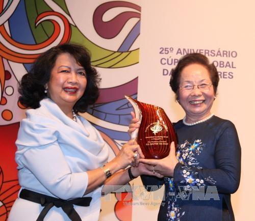 Phó Chủ tịch nước Nguyễn Thị Doan tham dự Hội nghị Thượng đỉnh Phụ nữ Toàn cầu lần thứ 25  - ảnh 1
