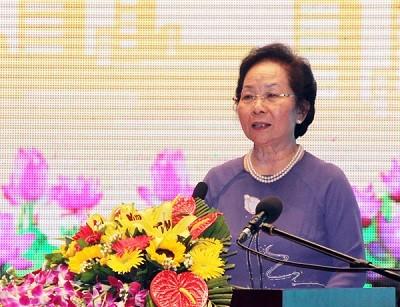 Phó Chủ tịch nước Nguyễn Thị Doan dự Đại hội Thi đua yêu nước tỉnh Vĩnh Phúc  - ảnh 1