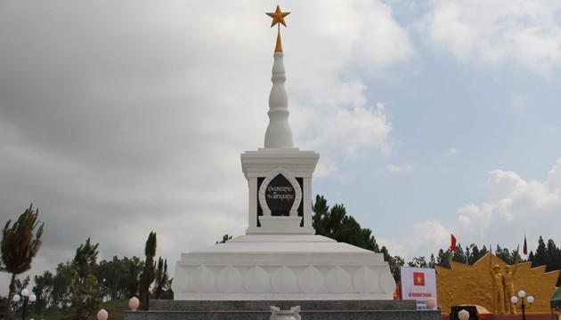 Khánh thành công trình tu bổ, nâng cấp Đài tưởng niệm liên minh chiến đấu Việt – Lào tại Champasac  - ảnh 1