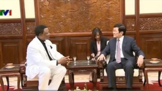 Chủ tịch nước Trương Tấn Sang tiếp Đại sứ Nigeria - ảnh 1