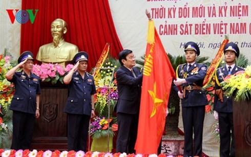 Chủ tịch nước trao tặng Danh hiệu AHLLVTND thời kỳ đổi mới cho lực lượng Cảnh sát biển VN - ảnh 1