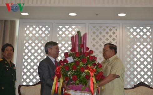 Đại sứ Việt Nam chúc mừng tân Chủ tịch Lào Bounnhang Volachith  - ảnh 1
