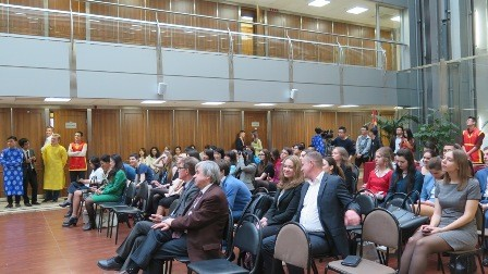 Lễ hội Hùng Vương với sinh viên Việt Nam và Nga tại Học viện Ngoại Giao Quốc gia Moskva - ảnh 1