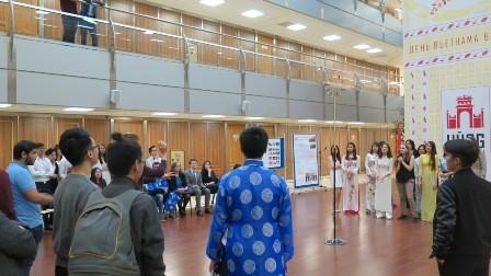 Lễ hội Hùng Vương với sinh viên Việt Nam và Nga tại Học viện Ngoại Giao Quốc gia Moskva - ảnh 7