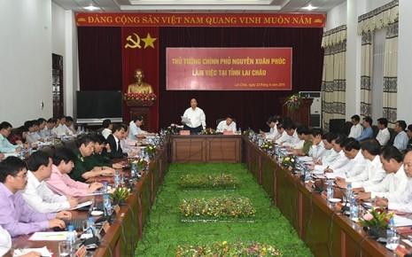 Thủ tướng Nguyễn Xuân Phúc làm việc với lãnh đạo tỉnh Lai Châu - ảnh 1