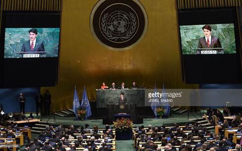 175 nước ký kết thỏa thuận Paris về biến đổi khí hậu - ảnh 1