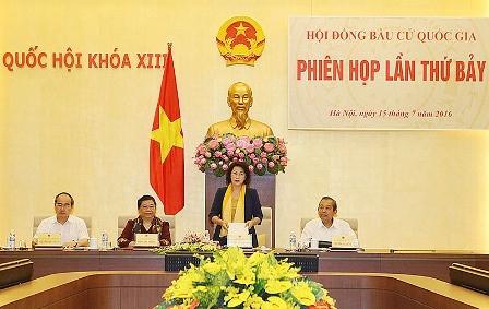 Phiên họp thứ 7 Hội đồng Bầu cử quốc gia  - ảnh 1