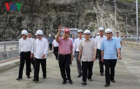 Tổng Bí thư Nguyễn Phú Trọng thăm Nhà máy thủy điện Lai Châu - ảnh 1