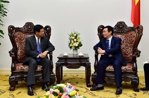 Phó Thủ tướng Vương Đình Huệ tiếp nguyên Thủ tướng Lào - ảnh 1