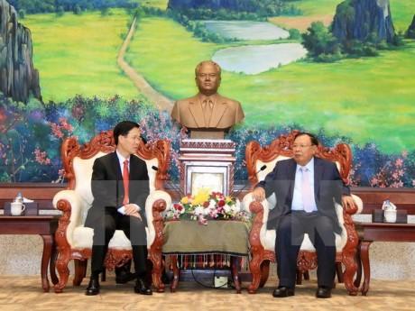Tổng Bí thư, Chủ tịch nước Lào đánh giá cao kết quả hợp tác giữa hai Ban Tuyên giáo Trung ương - ảnh 1
