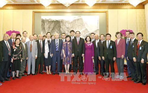 Chủ tịch nước Trần Đại Quang tiếp các nhân sĩ Trung Quốc - ảnh 1
