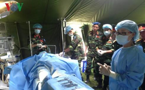 Bệnh viện dã chiến cấp 2 Việt Nam sẵn sàng nhận nhiệm vụ ở Phái bộ Liên hợp quốc tại Nam Sudan - ảnh 2