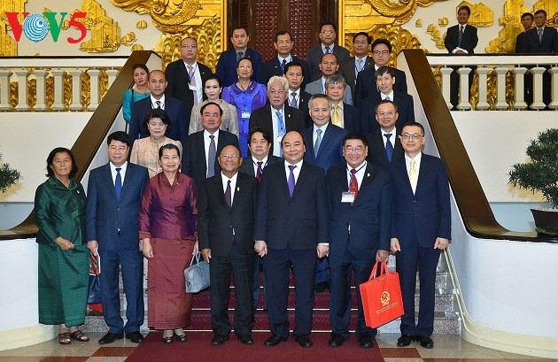 Thủ tướng Nguyễn Xuân Phúc tiếp Chủ tịch Quốc hội Vương quốc Campuchia Samdech Heng Samrin - ảnh 3