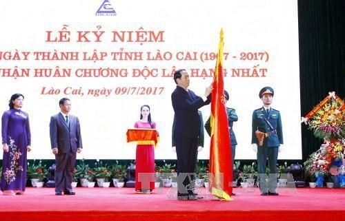 Chủ tịch nước Trần Đại Quang: Lào Cai cần phấn đấu trở thành tỉnh phát triển của khu vực Tây Bắc  - ảnh 2