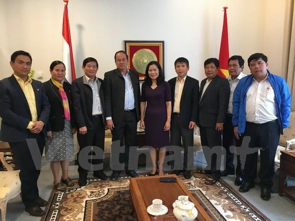 Đại sứ Việt Nam tại Hà Lan Ngô Thị Hòa tiếp đoàn đại biểu tỉnh An Giang thăm làm việc tại Hà Lan - ảnh 1