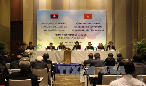 Bế mạc Hội thảo lý luận lần thứ 5 giữa Đảng Cộng sản Việt Nam và Đảng Nhân dân Cách mạng Lào  - ảnh 1
