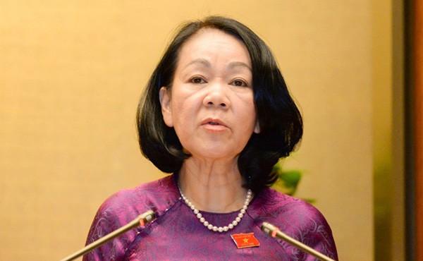 Trưởng ban Dân vận Trung ương Trương Thị Mai dự hội thảo công tác phụ nữ - ảnh 1